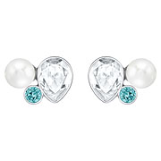 Extra Crystal Pearl Pierced Earrings