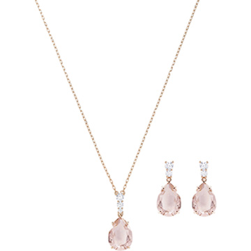 d04966b16 SWAROVSKI Jewellery: 2018 Winter Timeless Collection. Vintage Set, Pink, Rose  gold plating